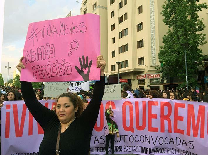 VIVAS NOS QUEREMOS marcha #NiUnaMenos Chile